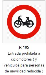 Entrada prohibida ciclomotores