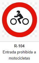 señal trafico_ Prohibido motocicletas