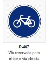 Via reservada ciclista