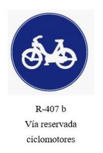 Via reservada ciclomotores